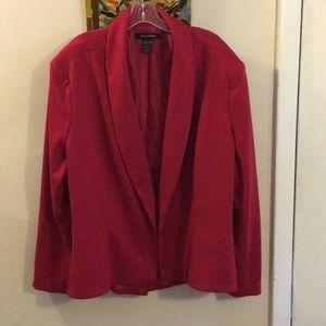 Ashley Stewart Red Shawl Collar Blazer